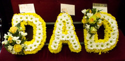 dad funeral flowers yellow