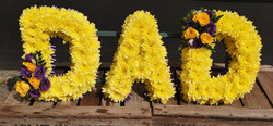 DAD funeral flower tribute Ashleigh Hopk