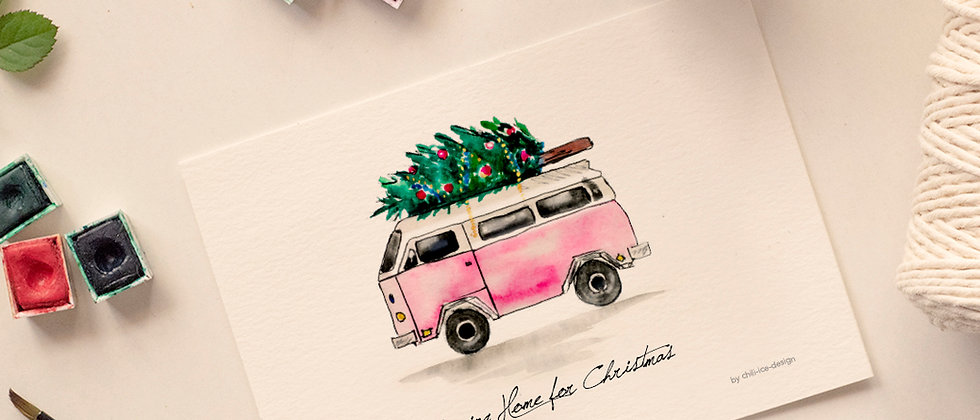 Van Christmas Card - Limited Edt