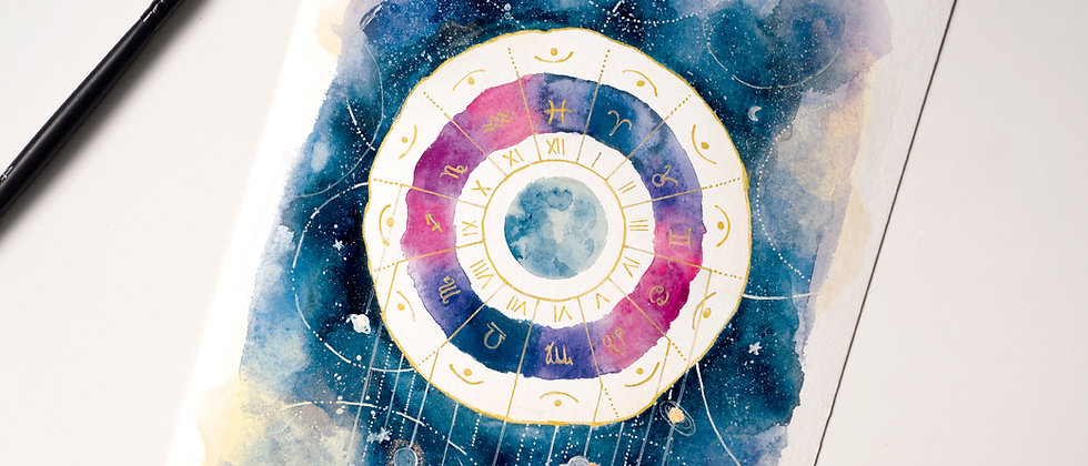 Moon, Universe and horoscope