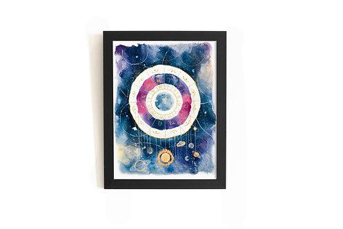 Moon, Universe and horoscope Original