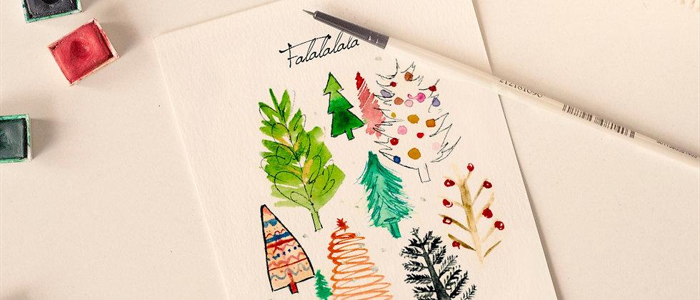 Falalalala Christmas Card - Limited Edt