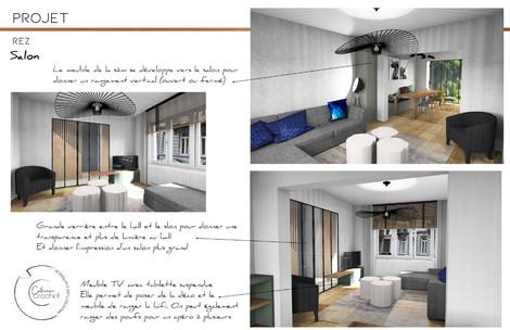 Architecture d'intérieur - salon -Arlon