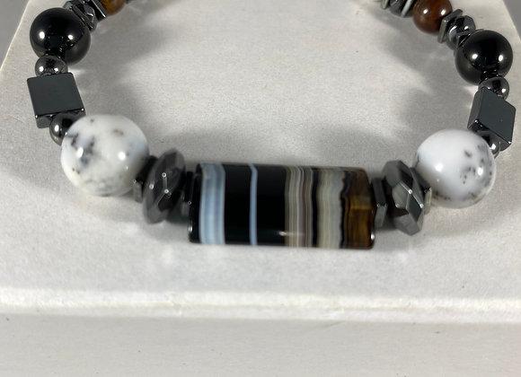 Black Banded Agate Bracelet