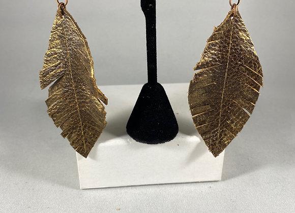 Matisse Brown & Metallic Bronze Feather Earrings