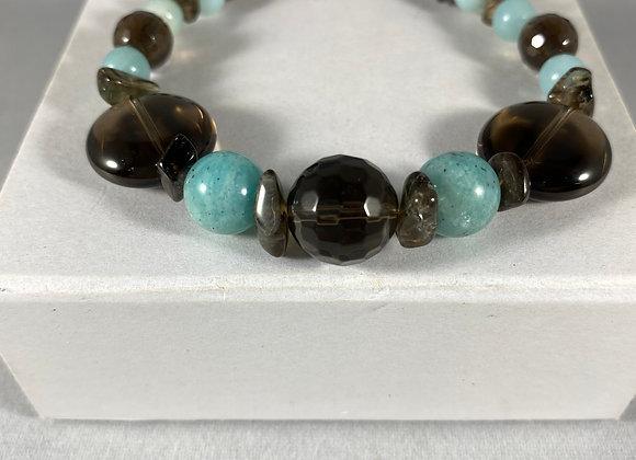 Smoky Quartz & Amazonite Bracelet