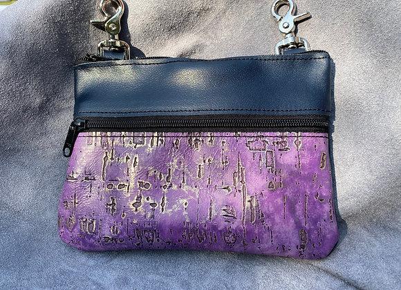 "Navy & Purple ""Memphis"" Bag"