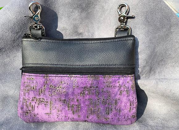 "Black & Purple ""Memphis"" Bag"