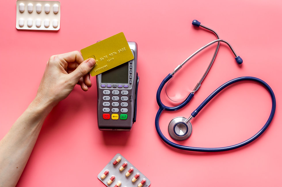 Online pharmacy shopping - payment for medicine by POS terminal with a bank card.jpg