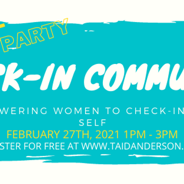 Check In Community Virtual Vision Board Party