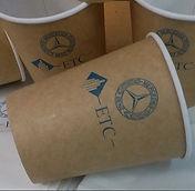 Печать логотипа на крафт стаканчиках во Владимире