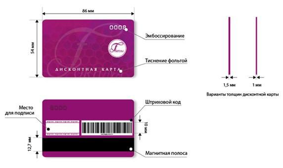 Степени защиты дисконтных карт