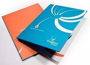 Печать фирменных папок с бесплатным дизайном во Владимире