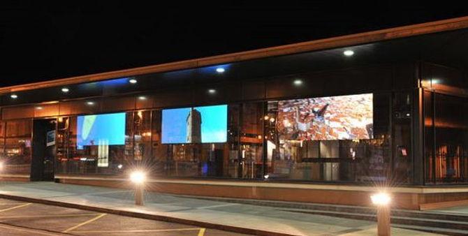 Проекционная реклама на витринах во Владимире