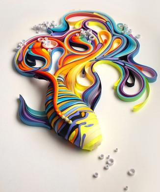 Чего только не делают из бумаги. Искусство 3D - красивое воплощение красивых идей