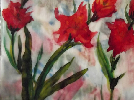 Alcohol Ink Encaustic Florals