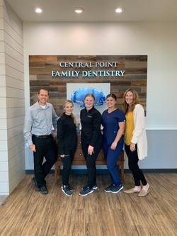 Central Point Family Dentistry dental team