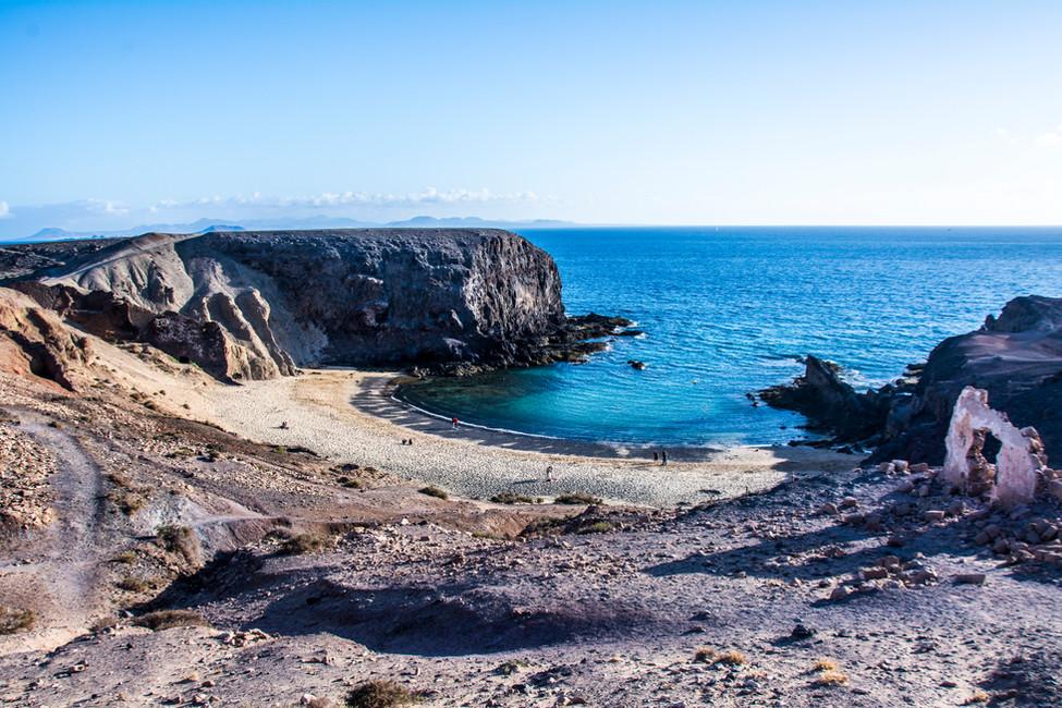 Playa del Papagayo, Lanzarote, España.