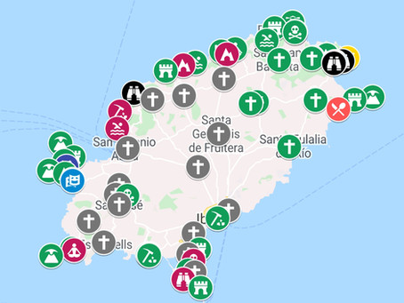 Mapa interactivo de Ibiza con las localizaciones secretas y más espectaculares de la isla blanca