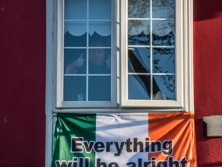 Lockdown in Dublin. Dublín durante el Covid19.