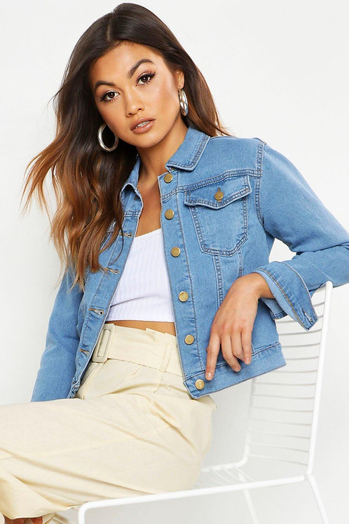 Campera De Jeans Para Mujer  Azul Claro