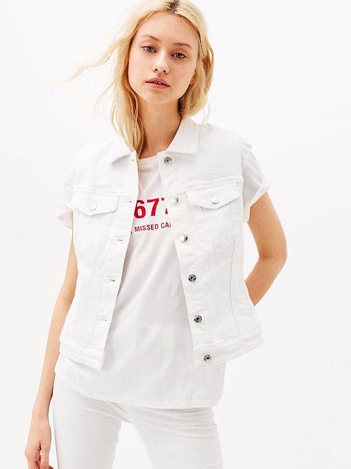 Chaleco De Jeans Para Mujer Blanco