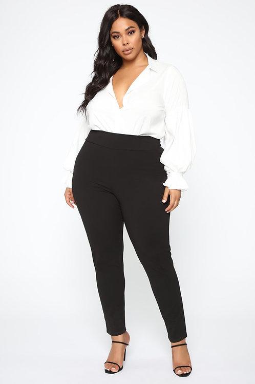 Pantalón Calza Bengalina Negro Talles Especiales