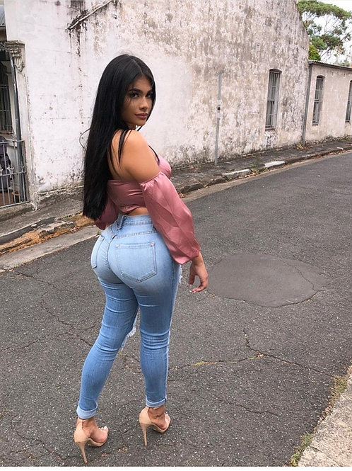 Pantalón Jeans De Mujer Color Celeste Claro