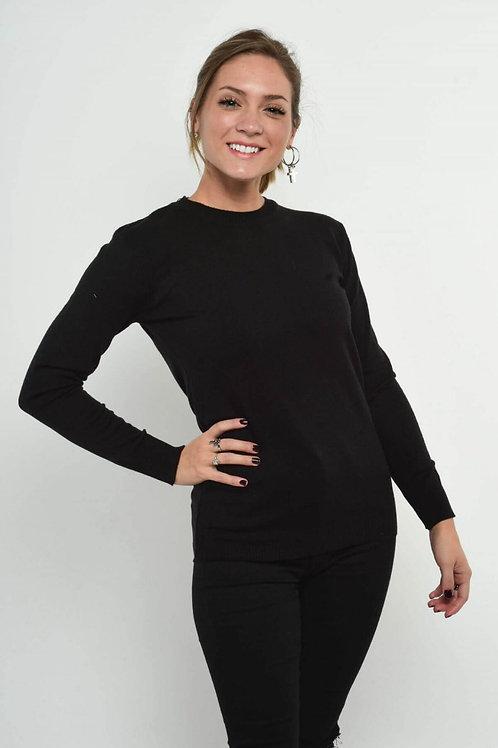 Sweater Liso De Hilo de Mujer Lana