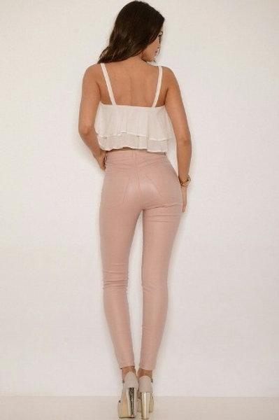 Pantalón Engomado Mujer Nude