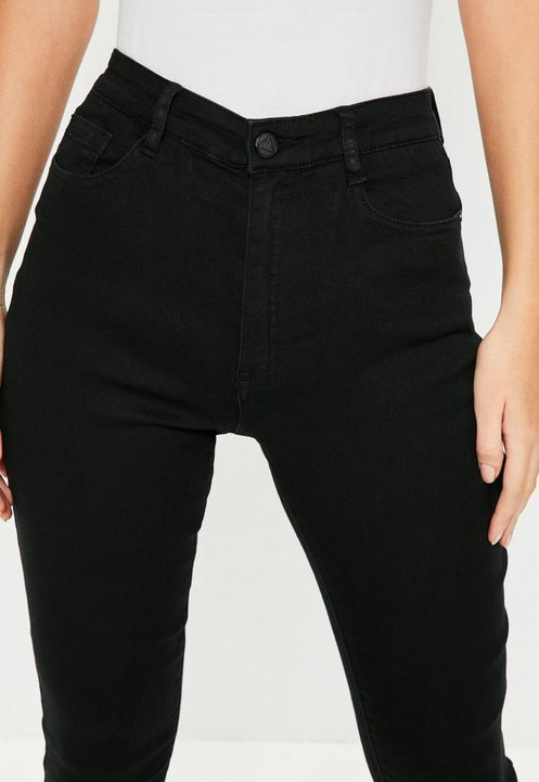 9917ab595d Pantalón Jeans Elastizado Tiro Alto Negro