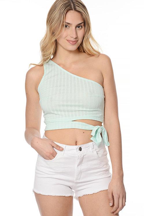 Short Jeans Rustico Elastizado Color Blanco