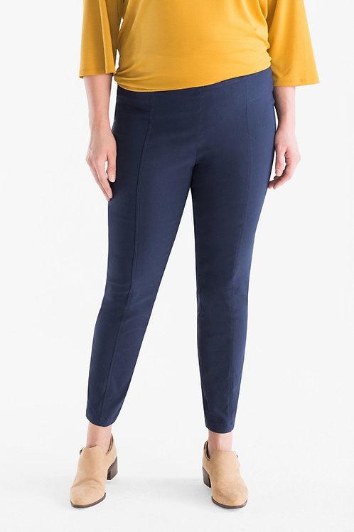 Pantalón Punto Roma de Mujer Azul Marino Talles Especiales