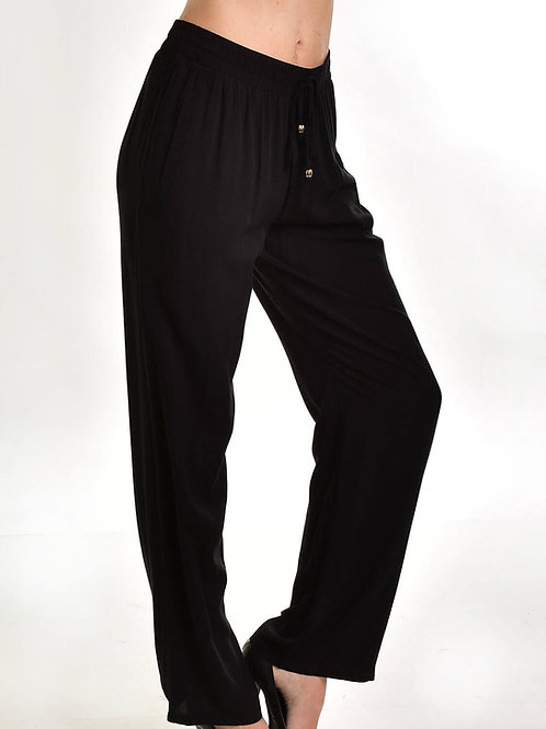 Pantalón Recto Modal Viscosa De Mujer Color Negro