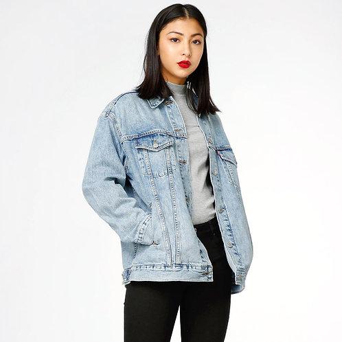 Campera de Jeans Retro de Mujer Estilo Boyfriend