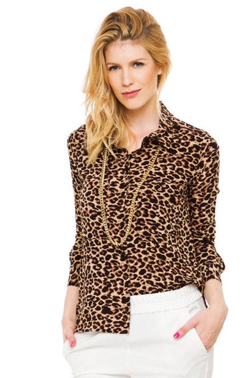 Camisa Animal Print De Mujer