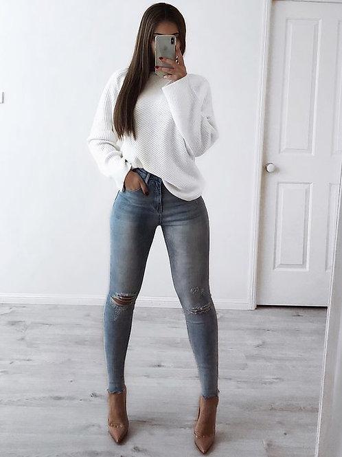 Pantalon Jeans Importado Con Roturas