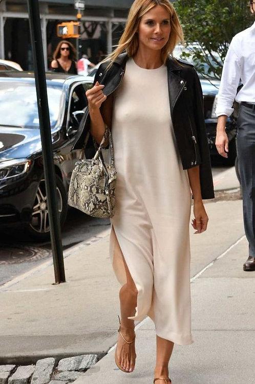 Vestido Largo Blanco Crema