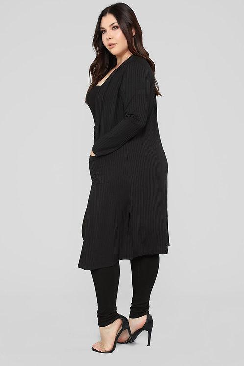 Saquito Talles Especiales Morley Lanilla Color Negro