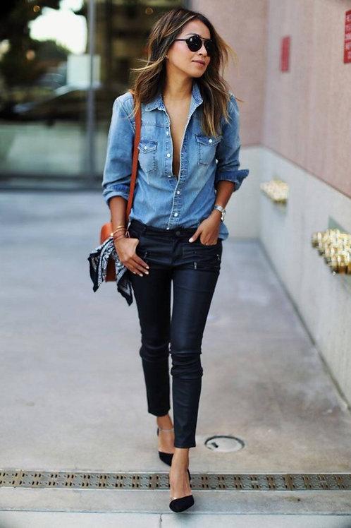 Camisa de Jeans de Mujer
