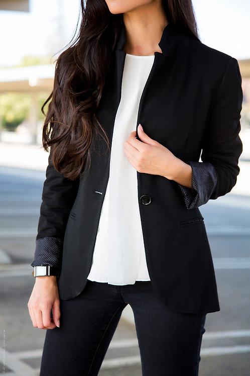 Blazer de Mujer Entallado Color Negro