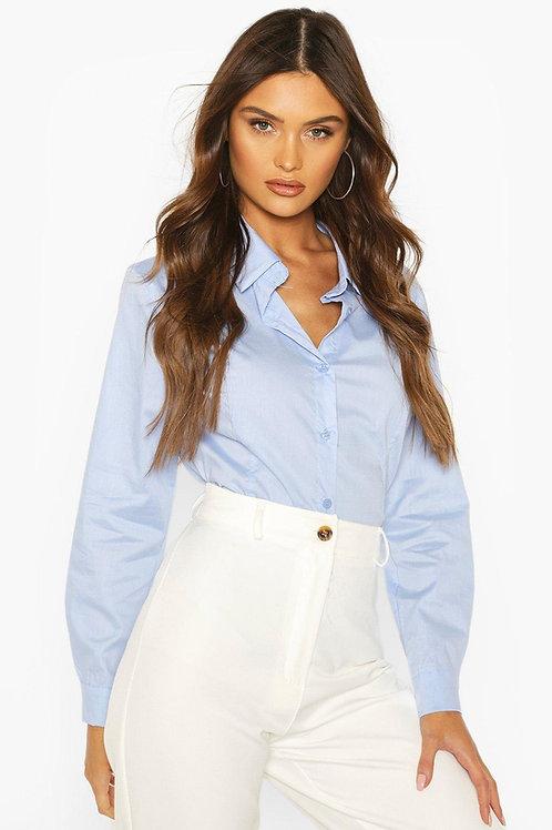 Camisa Entallada De Mujer Elastizada