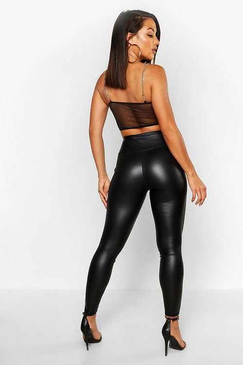 Calza Engomada Negra de Mujer