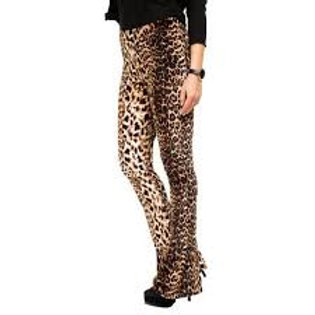 Pantalón Calza Oxford Tiro Alto Animal Print