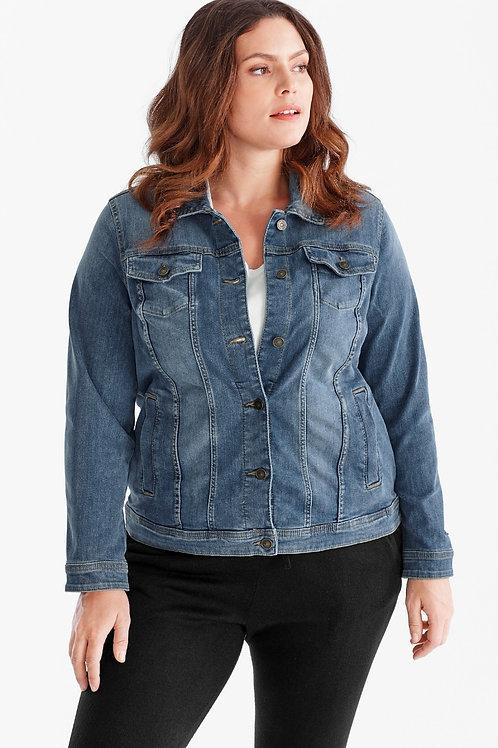 Campera de Jeans Mujer Talle Especial Azul