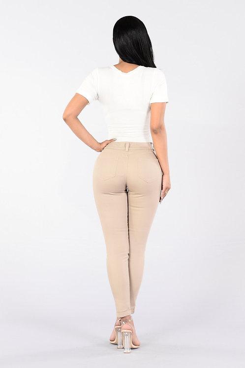 Pantalón de Vestir Mujer Color Beige