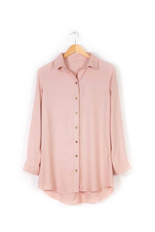 Camisa De Vestir Rosa Nude De Mujer