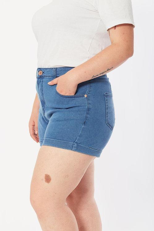 Short De Jeans Celeste Talles Especiales