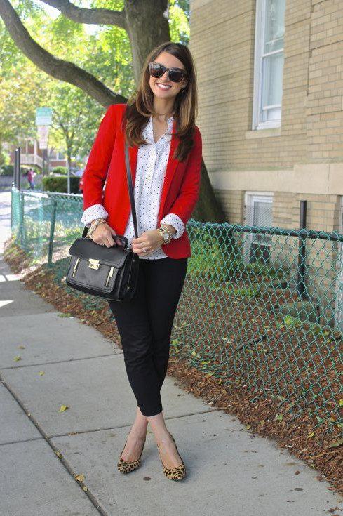 Blazer de Mujer de Gabardina Color Rojo
