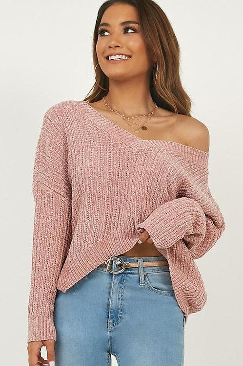 Sweater Importado Nordico Rosa Nude Ancho